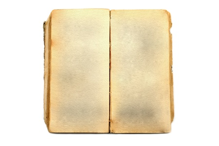 Old book open on white background Stock Photo - 17881860