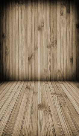 Wooden wall and floor background  Stock Photo - 19081526