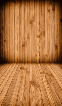 Wooden wall and floor background  photo