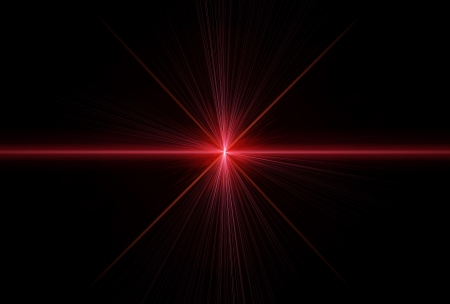 Special effect with laser rays Stock Photo