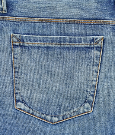 cloth back: Empty back pocket of jeans