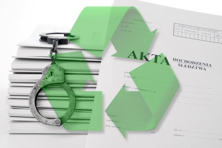 The punishment for non-segregated waste Stock Photo - 21965566