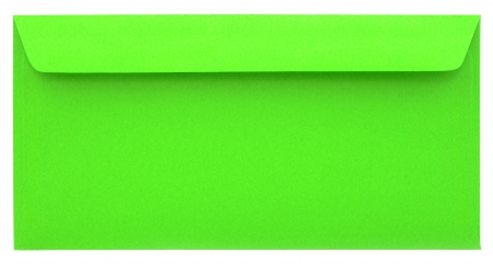 sealable: Green envelope isolated on white background Stock Photo
