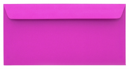 sealable: Pink envelope isolated on white background