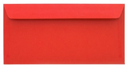 Red envelope isolated on white background photo