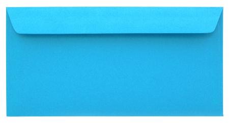 sealable: Blueenvelope isolated on white background Stock Photo