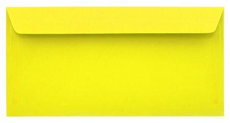 Yellow envelope isolated on white background Stock Photo