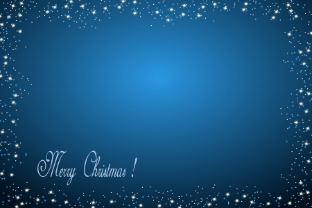 x mas: Blue christmas background with text space Stock Photo