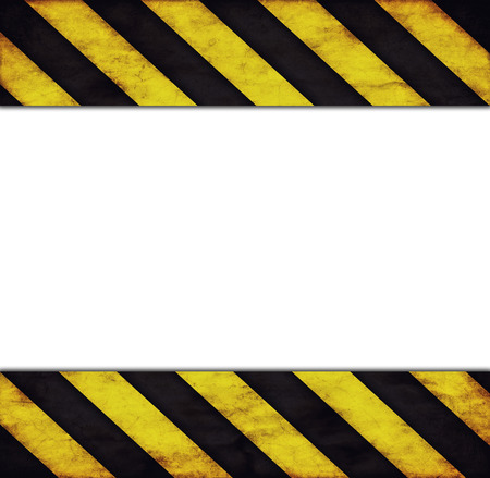 hazard stripes: Background with warning stripes and text space Stock Photo