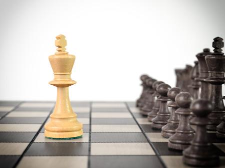 dominacion: Rey del ajedrez permanecer ante el conjunto de otras piezas de color