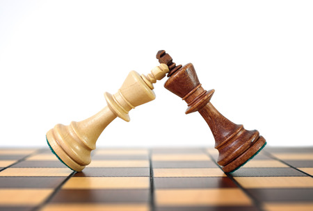 Kings chess duel. Duel rulers. Stock Photo