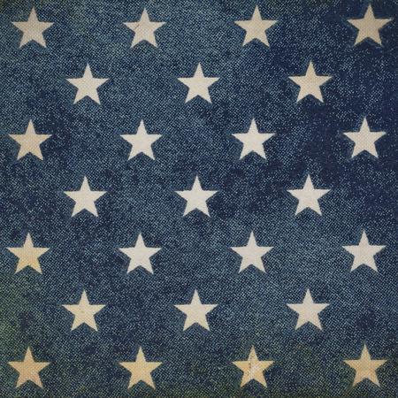 fondo vintage azul: Fondo azul de la vendimia con las estrellas Foto de archivo