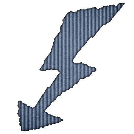 lightning arrow: Blue striped lighting isolated on white background
