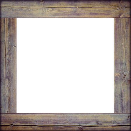 Vintage wooden frame with white center
