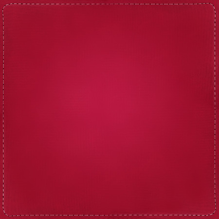 Red textile background with seams around