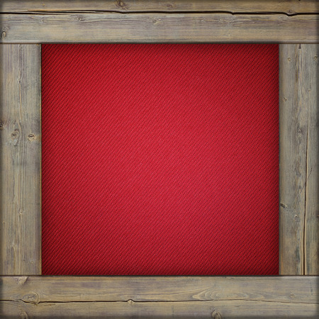 maroon: Wooden frame with red canvas inside Stock Photo