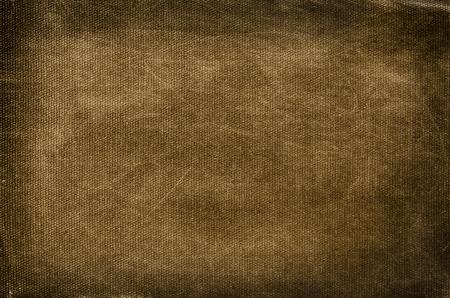 textil: Viejo, sucio y rayado de fondo marrón de algodón