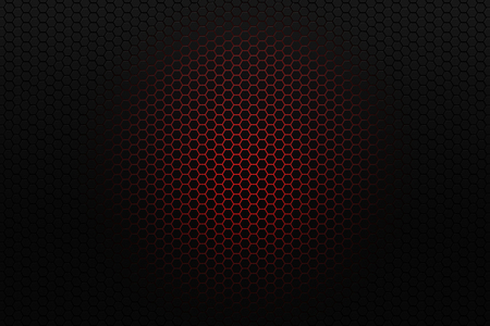 unit: Black honeycomb background with red glowing center