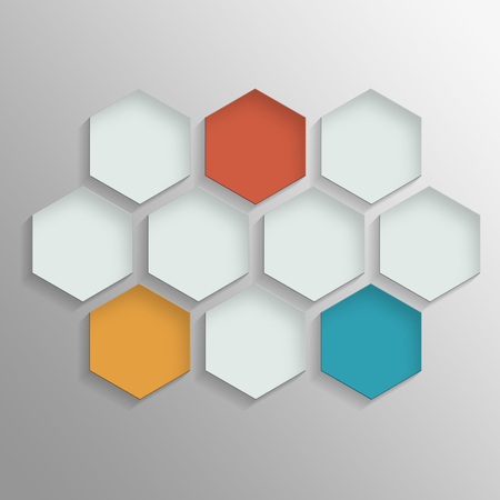 Octagon template layout for business