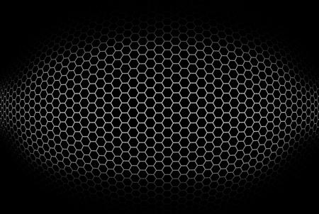 octagonal: cilíndrica de fondo con rejilla octogonal. Ilustración.