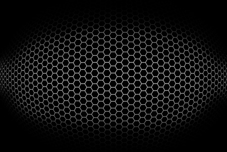 octagonal: Cylindrical background with octagonal grid. Illustration. Stock Photo
