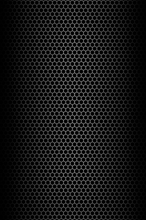 grille: Black honeycomb background. Illistration.