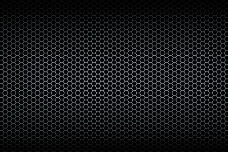 Black honeycomb background. Illistration.