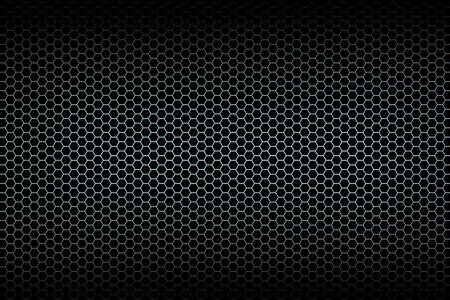 Black honeycomb background. Illistration.