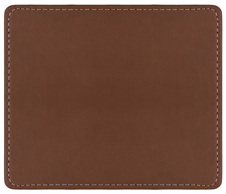 Fond en cuir marron avec coutures autour