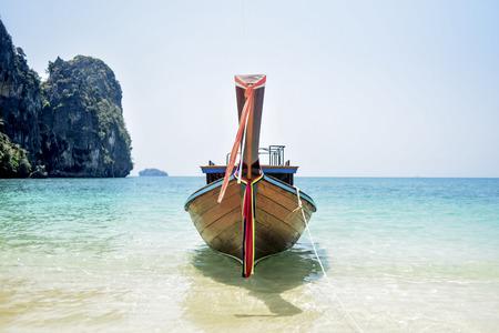 Boat on the Railey beach in Thailand