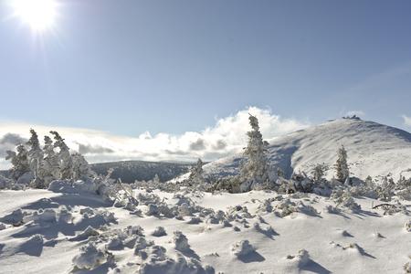 Wnter landscape in Polish mountains Zdjęcie Seryjne
