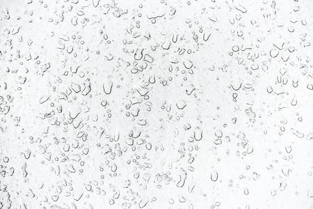 Raindrop on a window, rainy day. Stock Photo