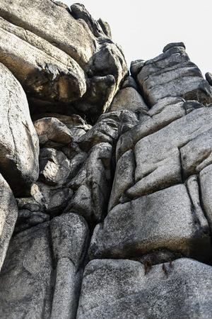 rock formation: Climbing rock mountains Rudawy Janowickie, Poland