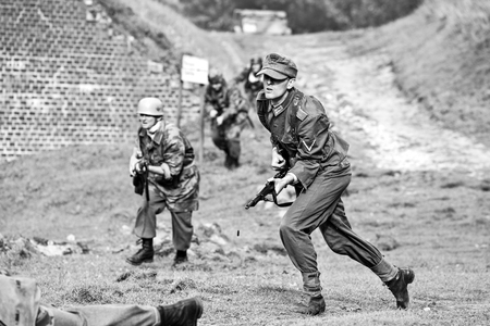 Swinoujscie, Poland, September 15, 2012: Historical reconstruction of the Battle of the Second World War