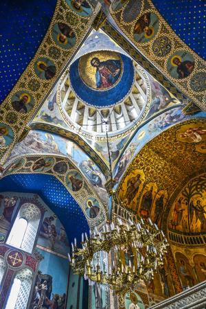 Interior of orthodox monastery in Georgia, Europe.