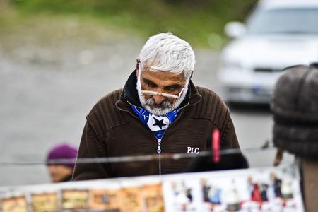 Mtskheta, Georgia, November 18, 2014:  Portrait of an old georgian man in Mtskheta, Georgia, Europe.