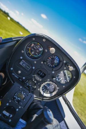 내부 조종석, 내부 sailplane. 스톡 콘텐츠