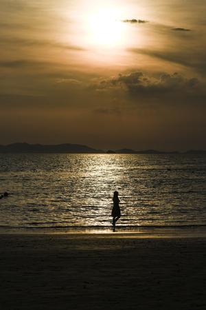 Sunset on a Railey beach, Krabi Thailand, summer time. Stock Photo