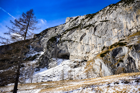 Grotto Tomorrow's world in the Marmolada mountain in the Italian Dolomites. 版權商用圖片