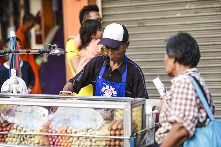Bangkok, Thailand, 3 march 2016: Street food vendor in Bangkok, Thailand.