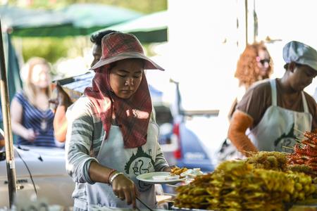 Bangkok, Thailand, 4 march 2016: Street food vendor in Bangkok, Thailand.