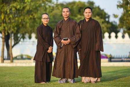 Bangkok, Thailand, 4 march 2016: Tibetan monks in Bangkok, Thailand. Editorial