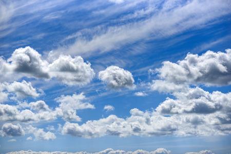 Blue clouds in the sky.