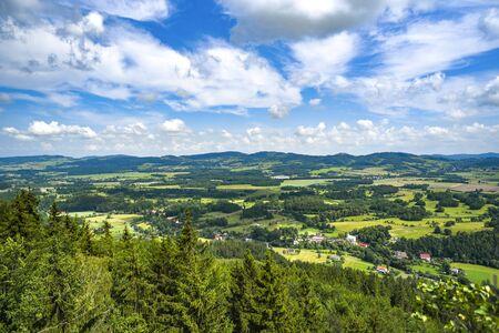 Mountain landscape. Karkonosze, mountains in Poland. Banco de Imagens