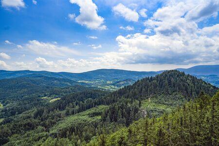 Sokoliki mountains, mountain landscape in Poland. Banco de Imagens
