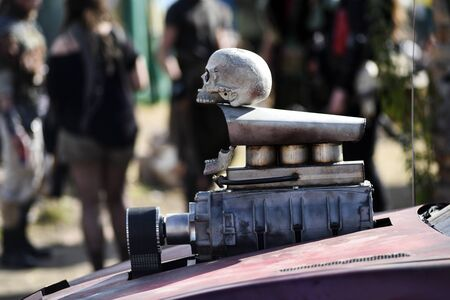 Post apocalyptic skull. Banco de Imagens