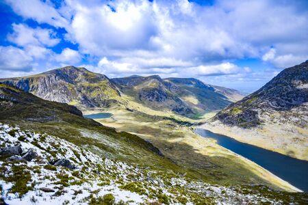 Snowdonia park landscape in England.