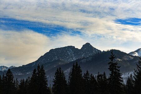 Giewont peak in the Western Tatras in Poland.