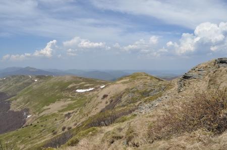 ridges: Montagne; Bieszczady National Park pascoli e creste