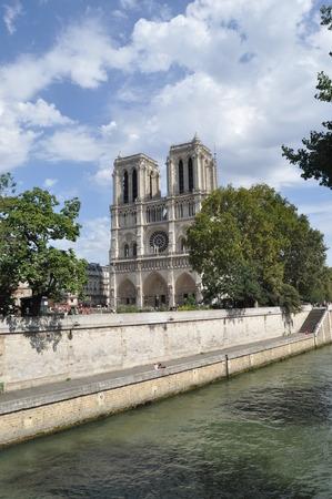 gargoyles: Cathedral, Notre Dam. The well-known church in Paris with gargoyles.
